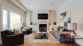 Living Room - Fireplace Mantel/ Side Units