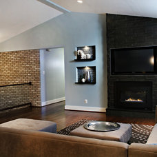 Contemporary Living Room by Four Brothers LLC