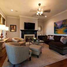 Traditional Family Room by Heather ODonovan Interior Design