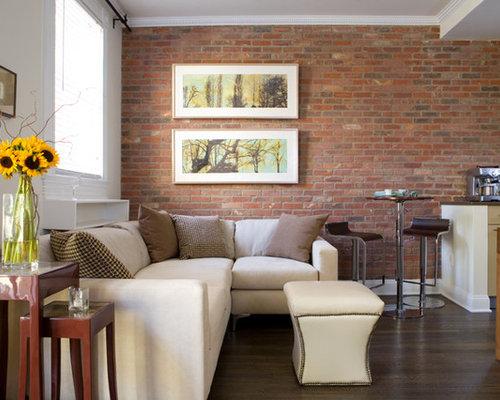 Brick veneer home design ideas pictures remodel and decor for Modern brick veneer