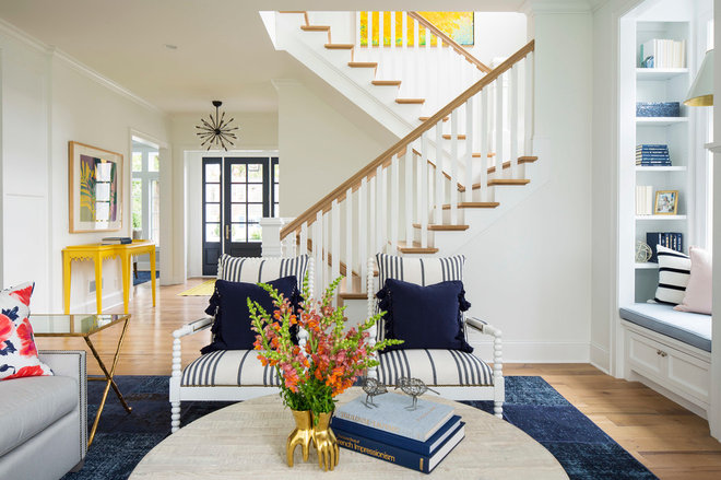 Beach Style Living Room by Martha O'Hara Interiors