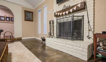 Living Room Metallic Epoxy Floor Coating