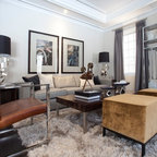 Urban Townhouse Contemporary Family Room Other By