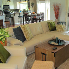 Traditional Family Room by Donna Designed It