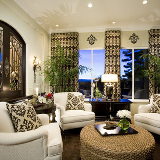 Inspiration for a timeless family room remodel in San Diego