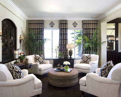 Elegant Family Room Photo In San Diego With Beige Walls. Save Photo. Robeson  Design Part 80