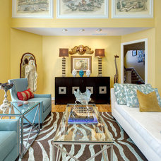 Asian Family Room by S&K Interiors