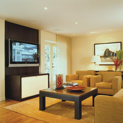 contemporary family room by Studio Santalla, Inc
