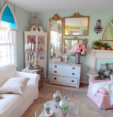 eclectic family room by Shabby French Cottage