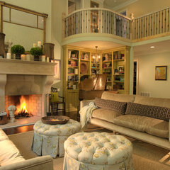 traditional family room by Dann Coffey Photography