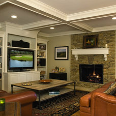 Traditional Family Room by Portis Building & Interiors