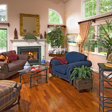 Traditional Family Room by Blue Heron Designs Inc.