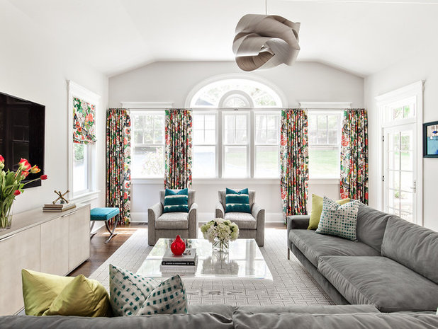 Contemporary Family Room by Clean Design
