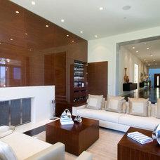 Contemporary Family Room by DesignBlue, Inc.