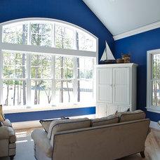 Beach Style Family Room by Grainda Builders, Inc.