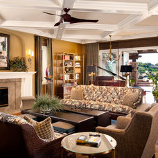 Traditional Family Room by R Johnston Interiors