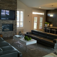 Modern Family Room by urbanescape inc