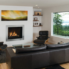 Modern Family Room by The Fireplace Centre