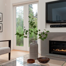 Contemporary Family Room by Erica Winterfield Design