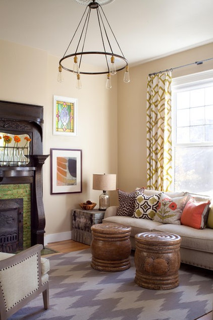 Eclectic Family Room by Ashley Campbell Interior Design