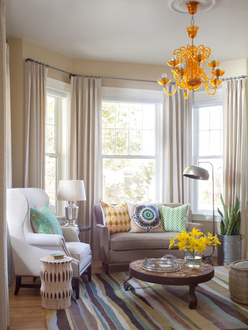 Bay Window Double Curtain Rod Houzz
