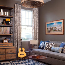 Industrial Family Room by Ashley Campbell Interior Design