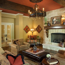 Traditional Basement by Janine Terstriep/The Decorative Touch Ltd