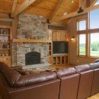 Rustic Modern Cabin Rustic Family Room Atlanta By