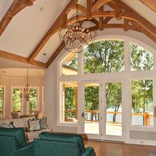 Rustic Family Room Lodge Room