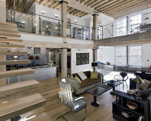 Loft open floor plan design ideas remodel pictures houzz for Open concept loft