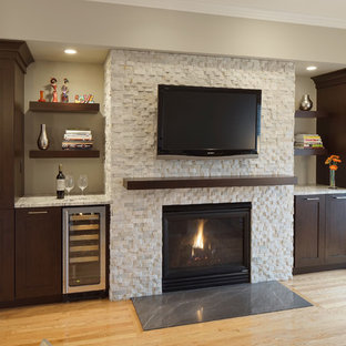Lofty Transitional Kitchen & Family Room Remodel - Elmhurst, IL