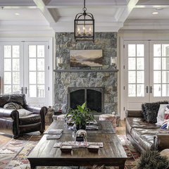 traditional family room by Carter Inc Builders