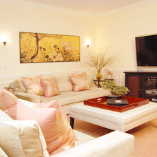 Traditional Family Room by Marie Burgos Design