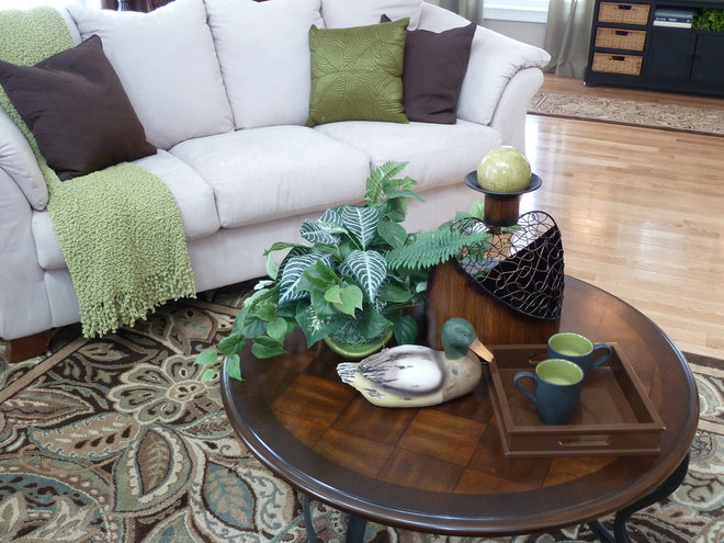 Farmhouse Family Room by Creative Decor by Mandi