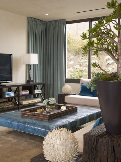 Contemporary Family Room by Lori Dennis, ASID, LEED AP