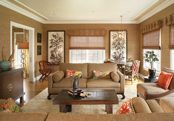 Transitional Family Room by Lori Levine Interiors, Inc.