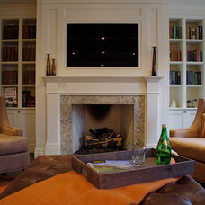 Transitional Family Room by Frahm Interiors - Burlington ON