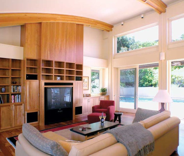 Modern Family Room by Thompson Studio Architects