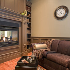 Traditional Family Room by Clay Construction Inc.