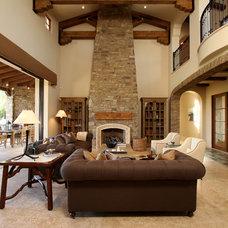 Mediterranean Family Room by Pekarek Crandell Architects