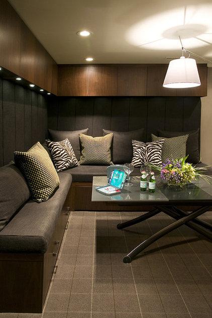 Contemporary Family Room by Bruce Johnson & Associates Interior Design