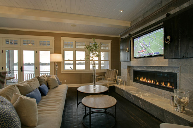 Traditional Family Room by Design Innovations