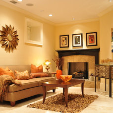 Eclectic Family Room by SOS Home Staging Group, LLC