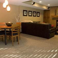 Modern Family Room by JP&CO. Samantha Grose, Designer