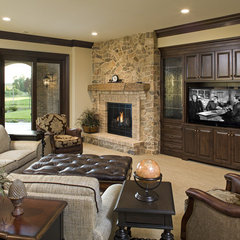 traditional family room by John Kraemer & Sons