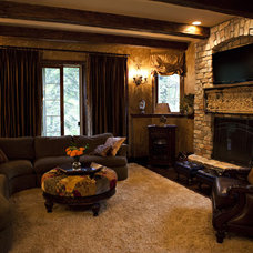 Traditional Family Room by M B Wilson Interior Design
