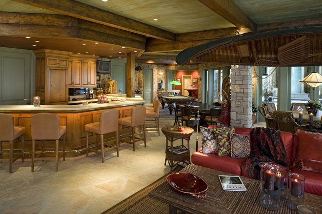 Traditional Family Room by John Kraemer & Sons