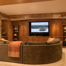 Traditional Family Room by Marcia Moore Design