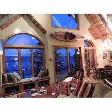 Rustic Family Room by Elise Fett & Associates, Ltd.