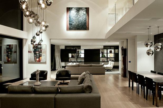 Contemporary Family Room by Daniel Marshall Architect